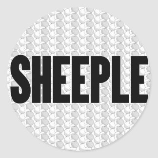SHEEPLE 2 CLASSIC ROUND STICKER
