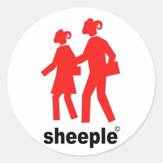 Sheeple Classic Round Sticker