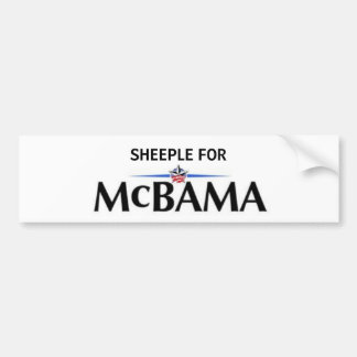 Sheeple for McBama Bumper Sticker