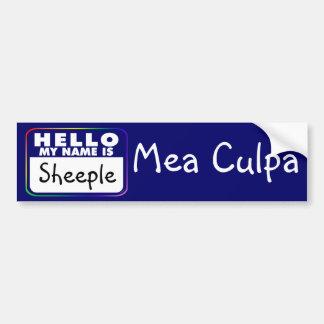 Sheeple Mea Culpa Bumper Sticker