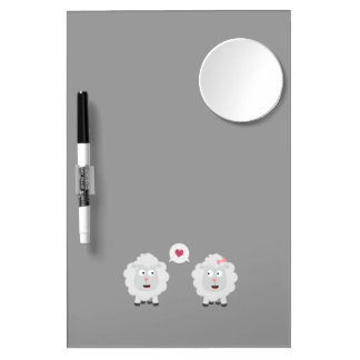 Sheeps in love with heart Z7b4v Dry Erase Board With Mirror