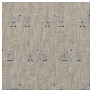 Sheeps in love with heart Z7b4v Fabric