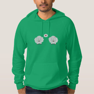 Sheeps in love with heart Z7b4v Hoodie