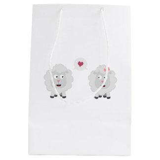 Sheeps in love with heart Z7b4v Medium Gift Bag