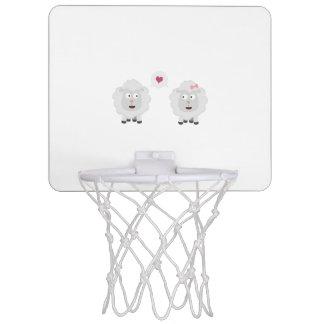 Sheeps in love with heart Z7b4v Mini Basketball Hoop
