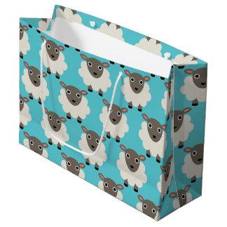 Sheeps seamless pattern large gift bag