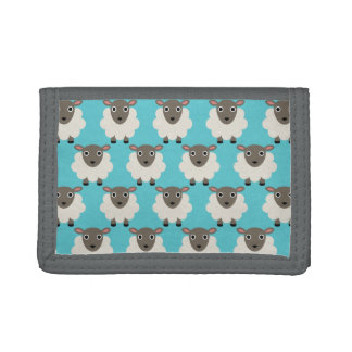 Sheeps Seamless Pattern Tri-fold Wallet
