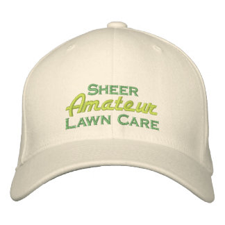 Sheer Amateur Lawn Care Embroidered Baseball Cap