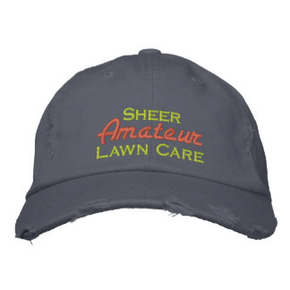 Sheer Amateur Lawn Care Embroidered Hat