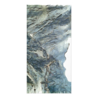 Sheer cliff and deep drop custom photo card