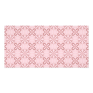 Sheer flowers pattern design photo card