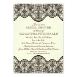 Sheer Lace Bridal Shower 13 Cm X 18 Cm Invitation Card