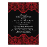 Sheer Red Lace Bridal Shower Invitations