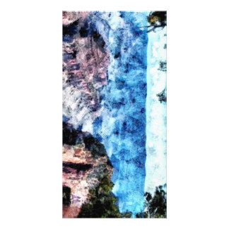 Sheer rock formations at the Grand Canyon Photo Card Template