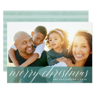 Sheer Spruce | Merry Christmas Holiday Photo Card