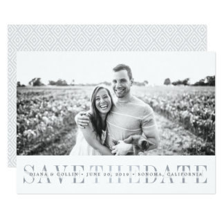 Sheer Stripe | Save the Date Photo Card