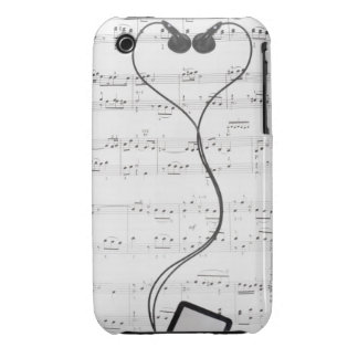 Sheet Music and Headphones iPhone 3 Cover
