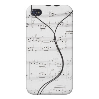 Sheet Music and Headphones iPhone 4/4S Cases