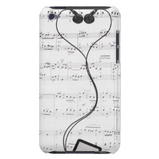 Sheet Music and Headphones iPod Touch Cases
