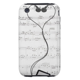 Sheet Music and Headphones Tough iPhone 3 Covers