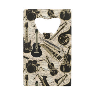 Sheet Music and Instruments Black/Gold ID481