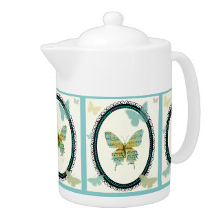 Sheet Music Butterfly TEAPOT