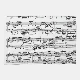 Sheet Music by Bach Tea Towel