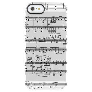 sheet music, for music-lovers clear iPhone SE/5/5s case