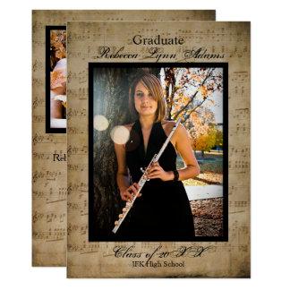 Sheet Music Graduation Announcement w/ Photos