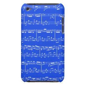 Sheet Music iPod Touch Royal Blue Barely There iPod Cases