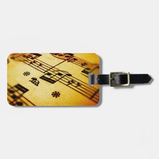 Sheet Music Luggage Tag