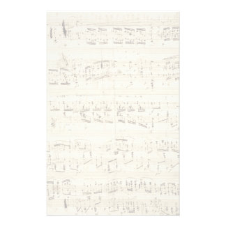 Sheet Music on Parchment Handwritten in Ink Stationery