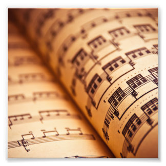 Sheet Music Pages Photograph