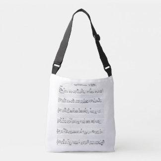 sheet music piano & piano keys bag