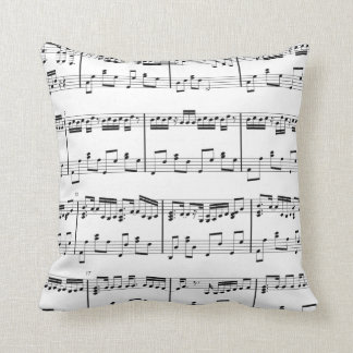 Sheet Music Pillow  Black and White
