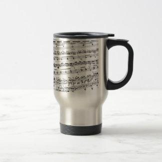 Sheet Music Stainless Steel Travel Mug
