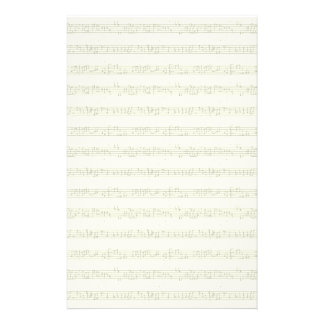 Sheet Music Stationary Personalized Stationery