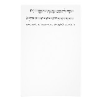 Sheet Music Stationery