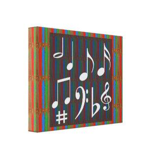 Sheet Music Symbols Mastreo Band Symphony Fans Fun Canvas Prints