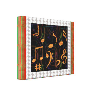 Sheet Music Symbols Mastreo Band Symphony Fans Fun Canvas Prints