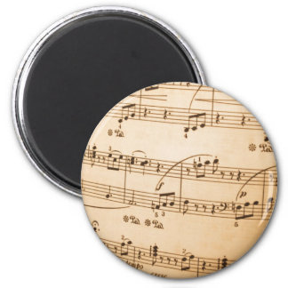 Sheet Music Template Create Your Own Custom Gifts 6 Cm Round Magnet