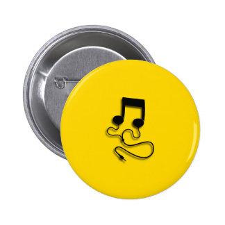 Sheet music with headphones Headphones Pin