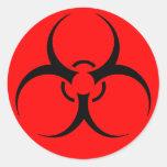 Sheet of biohazard stickers