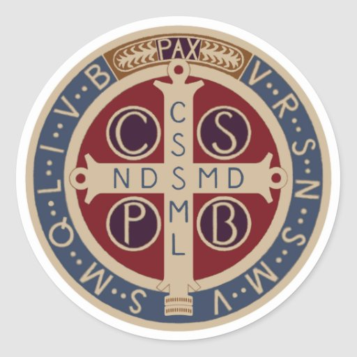 Sheet of St. Benedict Medal Stickers