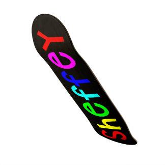 Sheffey Bold Rainbow Fonts 9711 Skate Board