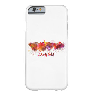 Sheffield skyline in watercolor barely there iPhone 6 case
