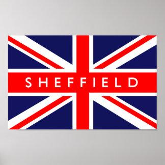 Sheffield UK Flag Poster