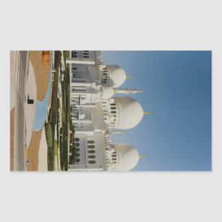 Sheikh Zayed Grand Mosque,Abu Dhabi Rectangular Sticker