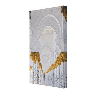 Sheikh Zayed Grand Mosque columns,Abu Dhabi Canvas Print