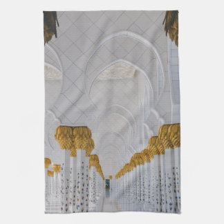 Sheikh Zayed Grand Mosque columns,Abu Dhabi Tea Towel